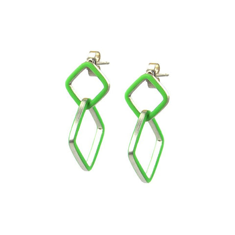 Losange deux earrings - small-medium
