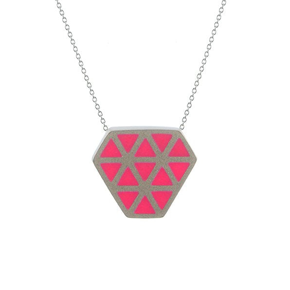 Iso tronqué triangle pendant - small