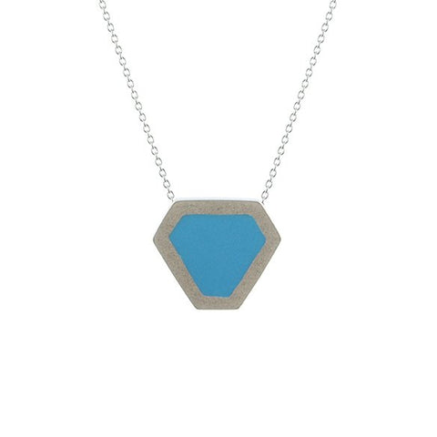 Tronqué triangle pendant - small