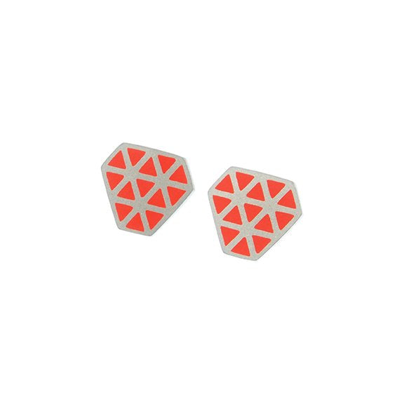 Iso tronqué triangle stud earrings