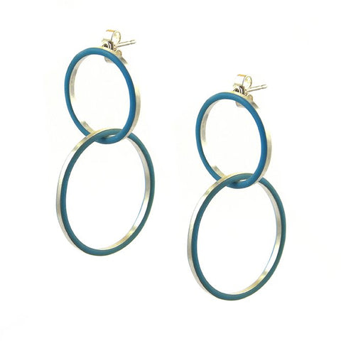 Cercle deux earrings - medium-large
