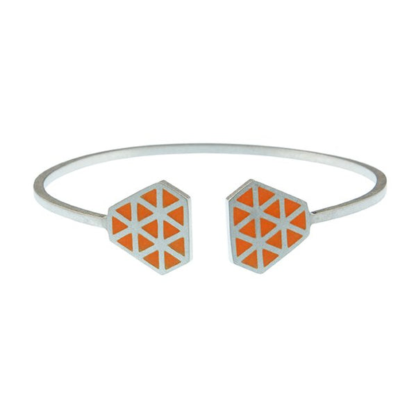 Iso tronqué triangle open adjustable bangle