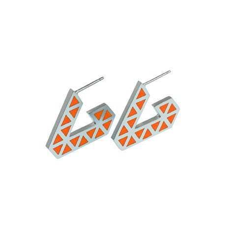 Iso tronqué triangle hoop earrings - small