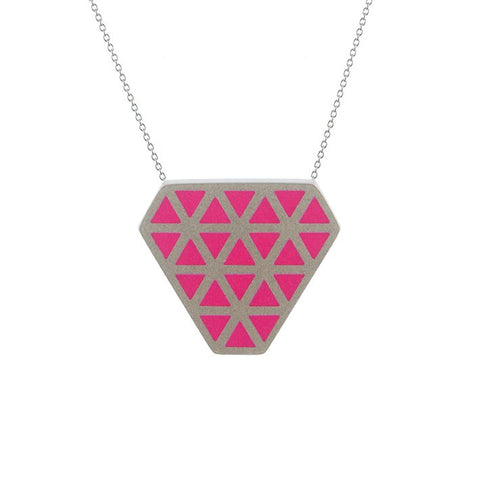 Iso tronqué triangle pendant - medium
