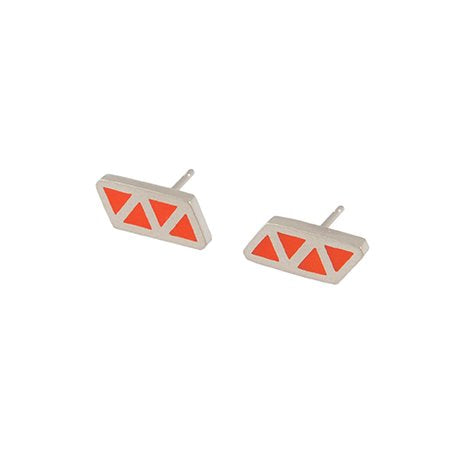 Triangle quatre stud earrings