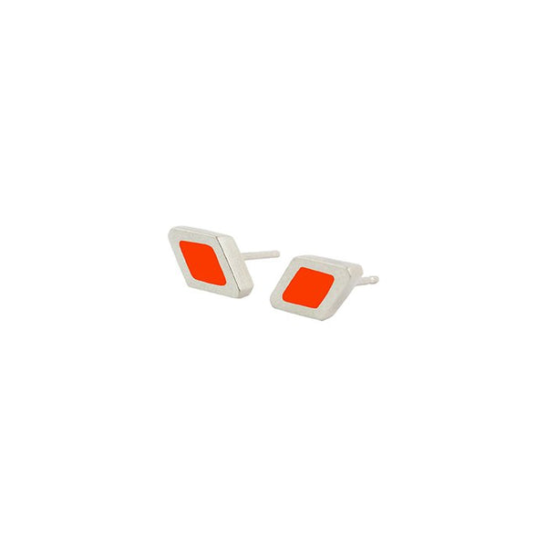 Rhombus stud earrings