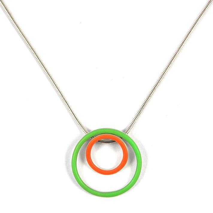 Cercle interchangeable pendants - small+medium - on a 18'' snake chain