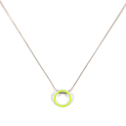 Cercle pendant - small - on 16'' snake chain