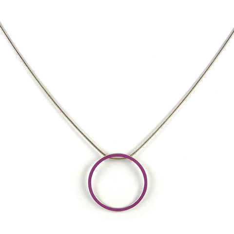 Cercle pendant - large - on a 18''chain