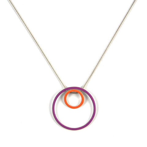 Cercle interchangeable pendants - small+large - on a 18'' snake chain