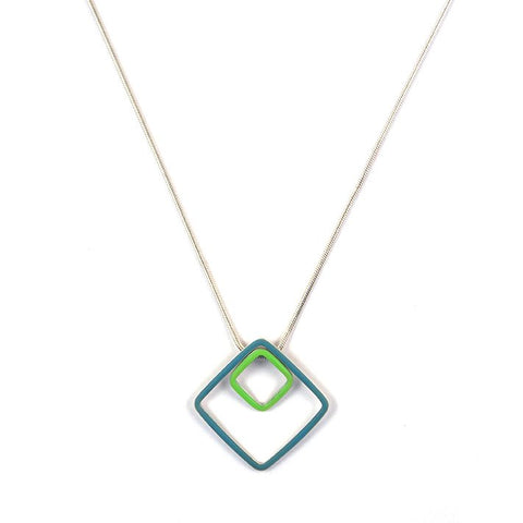 Losange interchangeable pendants - small + large - on a n 18'' chain
