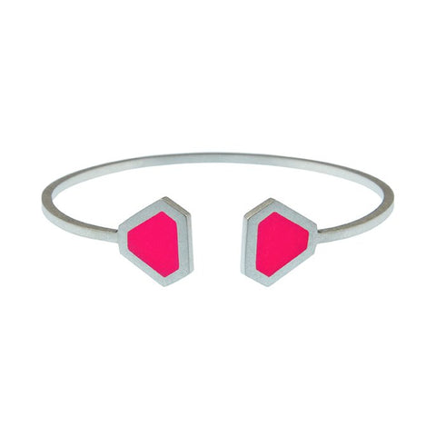 Tronqué triangle open adjustable bangle