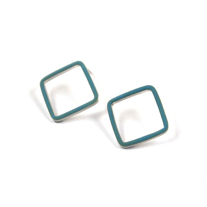 Losange stud earrings - medium