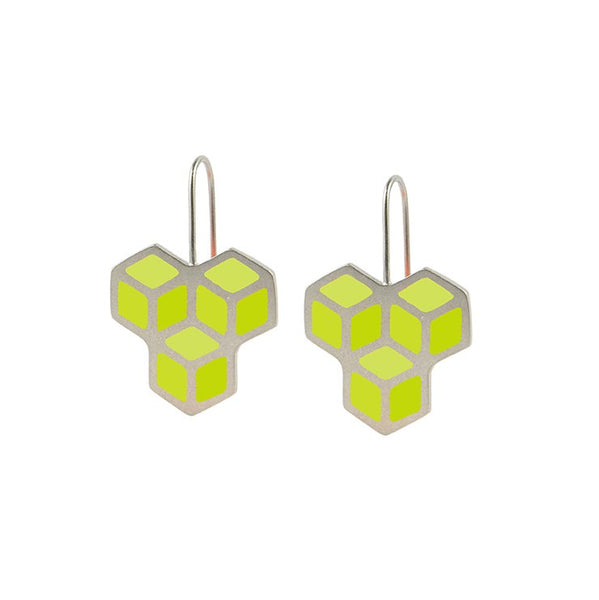 Cube trois hook earrings 1