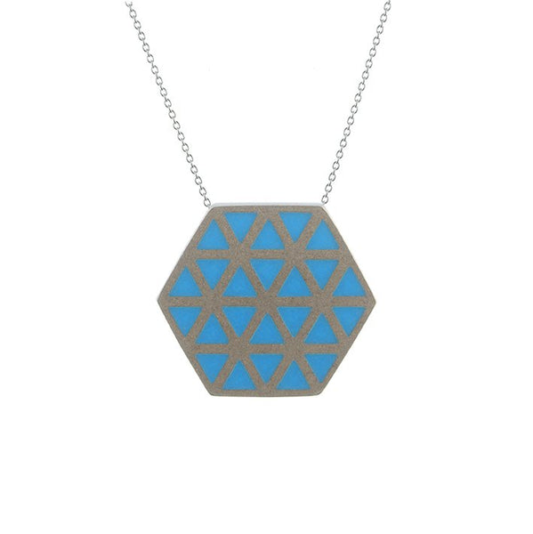 Iso hex pendant - medium