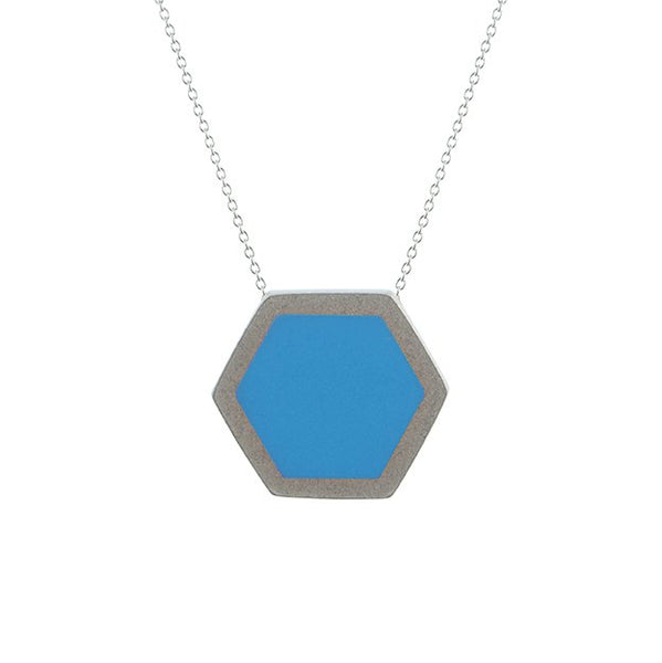 Hex pendant - medium