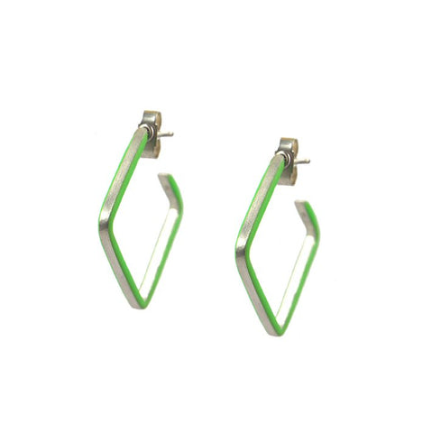 Créole losange hoop earrings - small