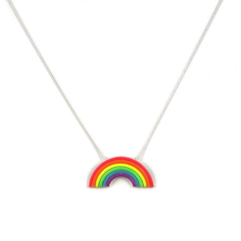 Arc en ciel pendant - on a 18'' snake chain
