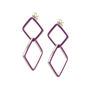 Losange deux earrings - medium-large