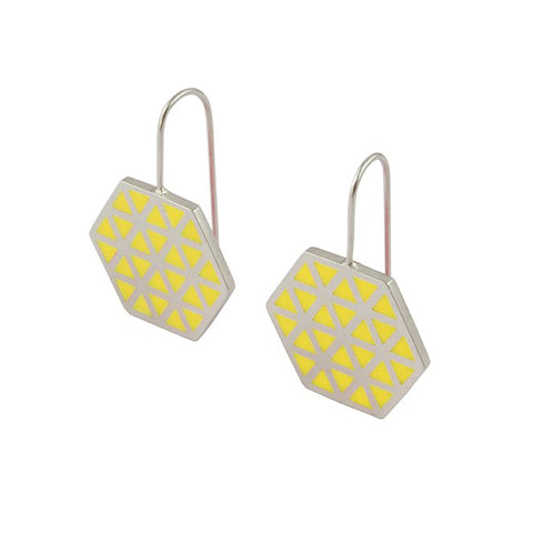 Iso hex hook earrings