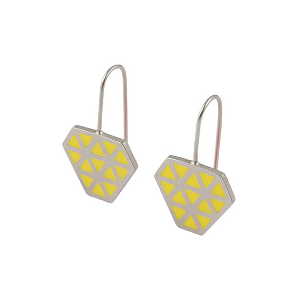 Iso tronqué triangle hook earrings 2 -small