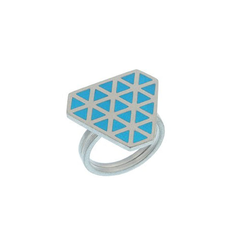 Iso tronqué triangle adjustable ring