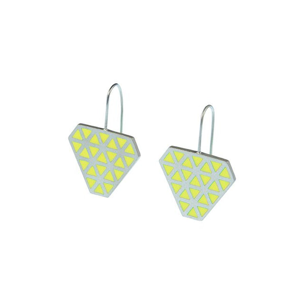 Iso tronqué triangle hook earrings 2 - medium