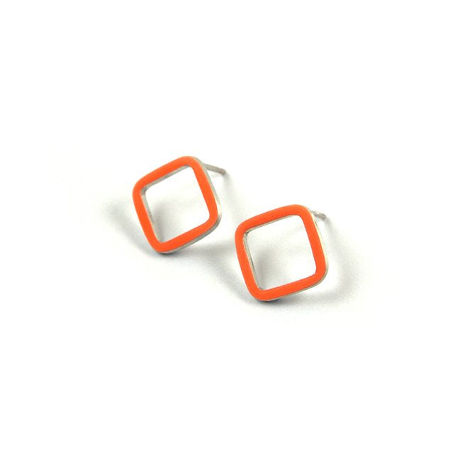 Losange stud earrings - small