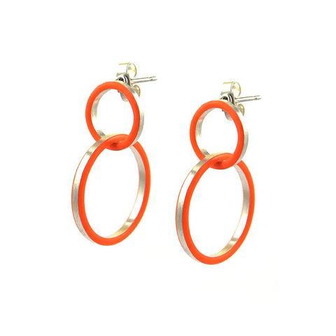Cercle deux earrings - small-medium