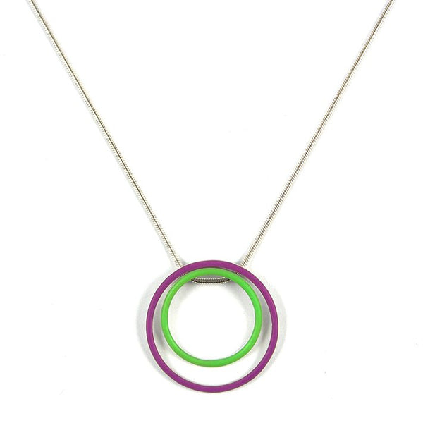 Cercle interchangeable pendants - small +medium+large - on a 18'' snake chain