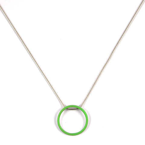 Cercle pendant - medium - on 16'' snake chain