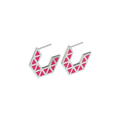 Iso hex hoop earrings - small