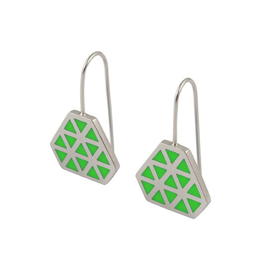 Iso tronqué triangle hook earrings 1 -small