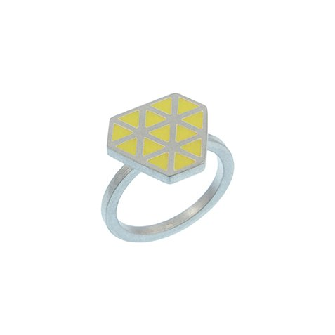 Iso tronqué triangle ring - small