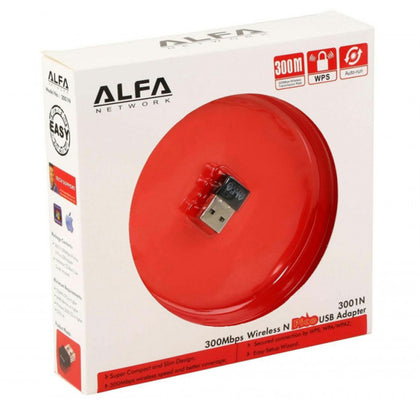 Alfa 2.4GHz 300Mbps Wireless USB Adapter 3001N - Saudi Arabia