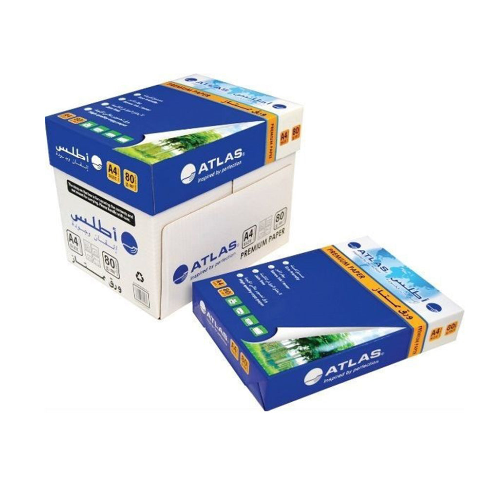 Atlas Copy Paper A4 80GSM 5 Packs of 500 Sheets