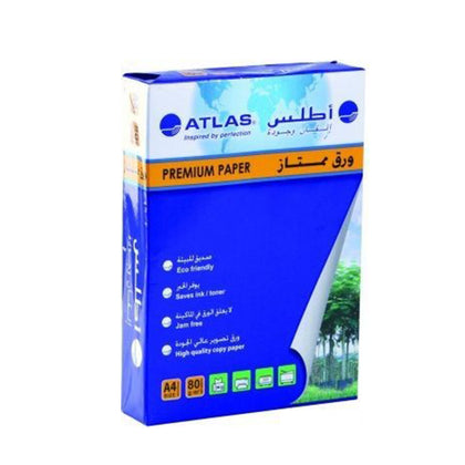 Atlas Copy Paper A4 80GSM 1 Ream of 500 Sheets - Saudi Arabia