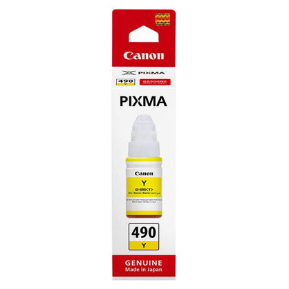 Canon GI-490 Ink Bottle, Yellow - Saudi Arabia
