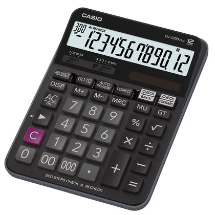 Casio DJ-120D PLUS Desktop Calculator with Check and Correct Function - Black - Saudi Arabia