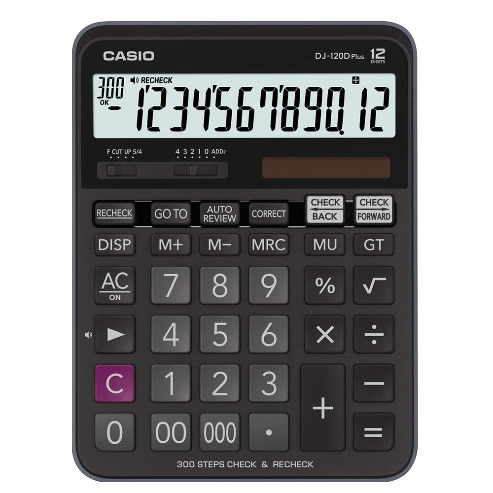 Casio DJ-120D PLUS Desktop Calculator with Check and Correct Function - Black