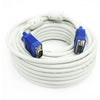 Crystal VGA Cable 20M - White (Male to Male)