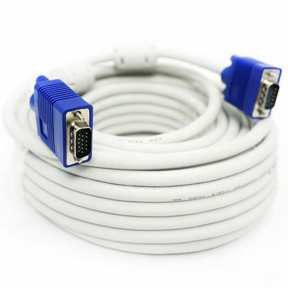 Crystal VGA Cable 15M - White (Male to Male) - Saudi Arabia
