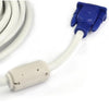 Crystal VGA Cable 15M - White (Male to Male)