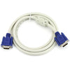 Crystal VGA Cable 5M - White (Male to Male)