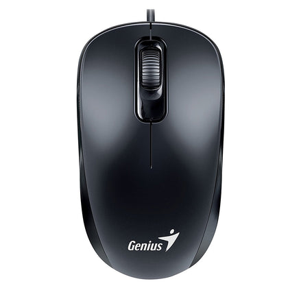 Genius DX-110 Optical Wired Mouse, Black - Saudi Arabia