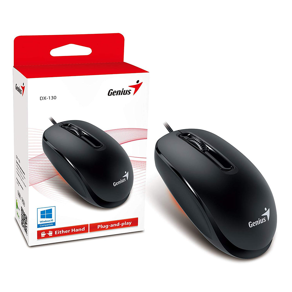 Genius DX–130 Wired Mouse , Black