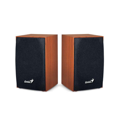 Genius Wooden Stereo Speakers Brown SP-HF160 - Saudi Arabia
