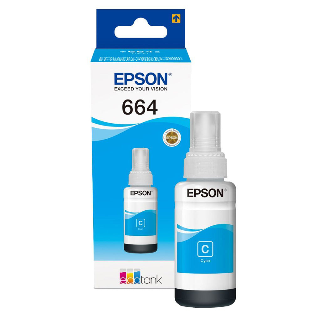 Epson 664 Cyan EcoTank Ink Bottle T6642