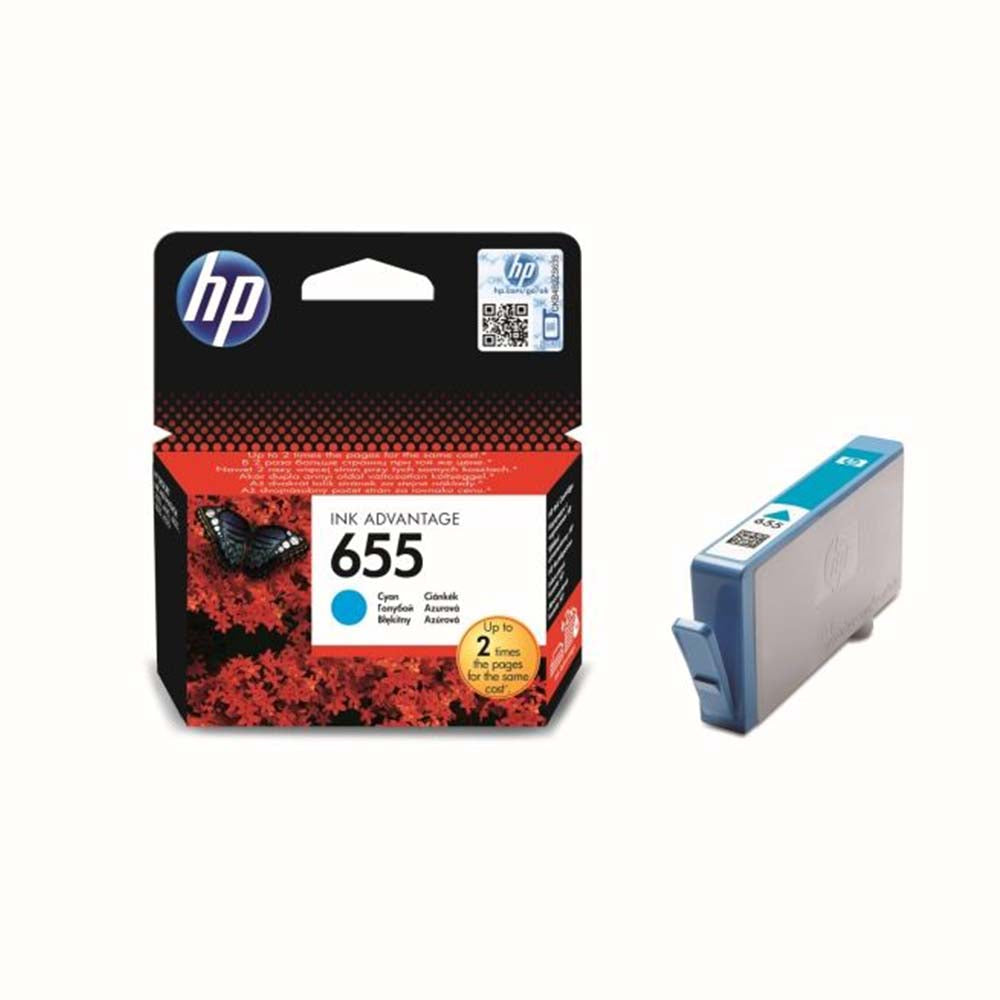 HP 655 Cyan Ink Advantage Cartridge - CZ110AE
