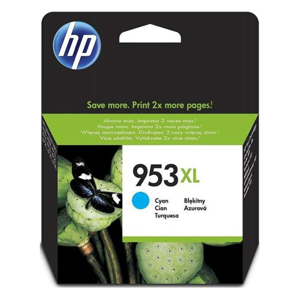 HP 953XL Cyan High Yield Original Ink Cartridge | F6U16AE